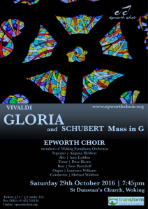 Gloria! concert poster
